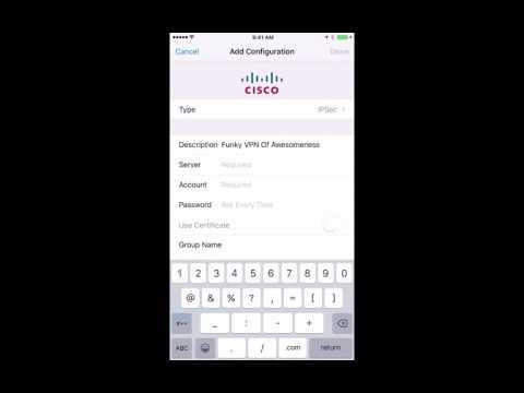 iPhone IPSEC VPN Setup