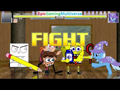 Fairly OddParents Characters (Vicky And Timmy) And SpongeBob VS Trixie Lulamoon In A MUGEN Battle