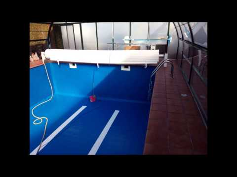Estanca rehabilitaci n de piscina youtube for Construccion de piscinas en galicia