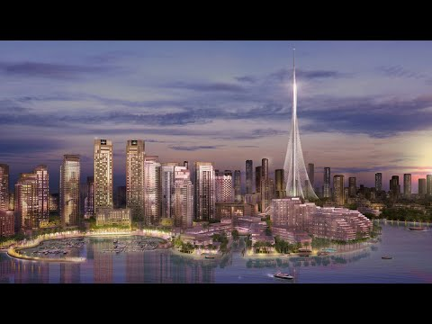 Tallest Building In The World Dubai Creek Tower With 210 Floors.  A MONUMENT TO THE WORLD AND AN ICO