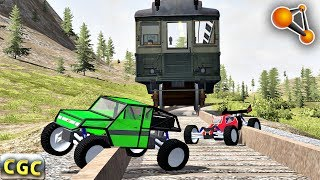 RC CARS VS Real TRAIN (Toy Cars) BeamNG Drive
