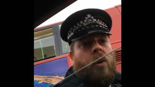 Police think this man is too old to disagree with them