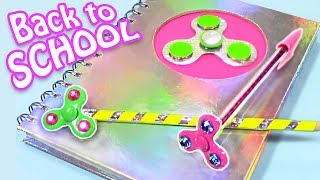 SPINNER SCHOOL SUPPLIES! DIY BACK TO SCHOOL