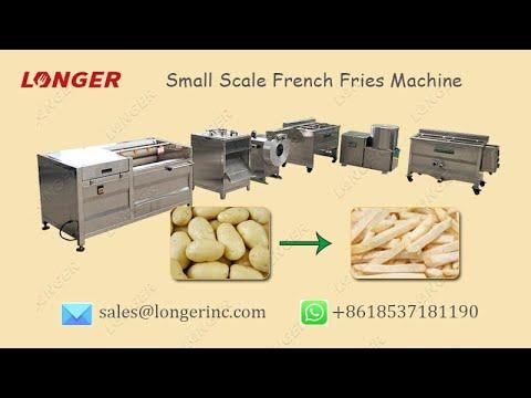 Small Scale French Fries Processing Line|Frozen Potato Fries Making Machine @longer-machinery.com