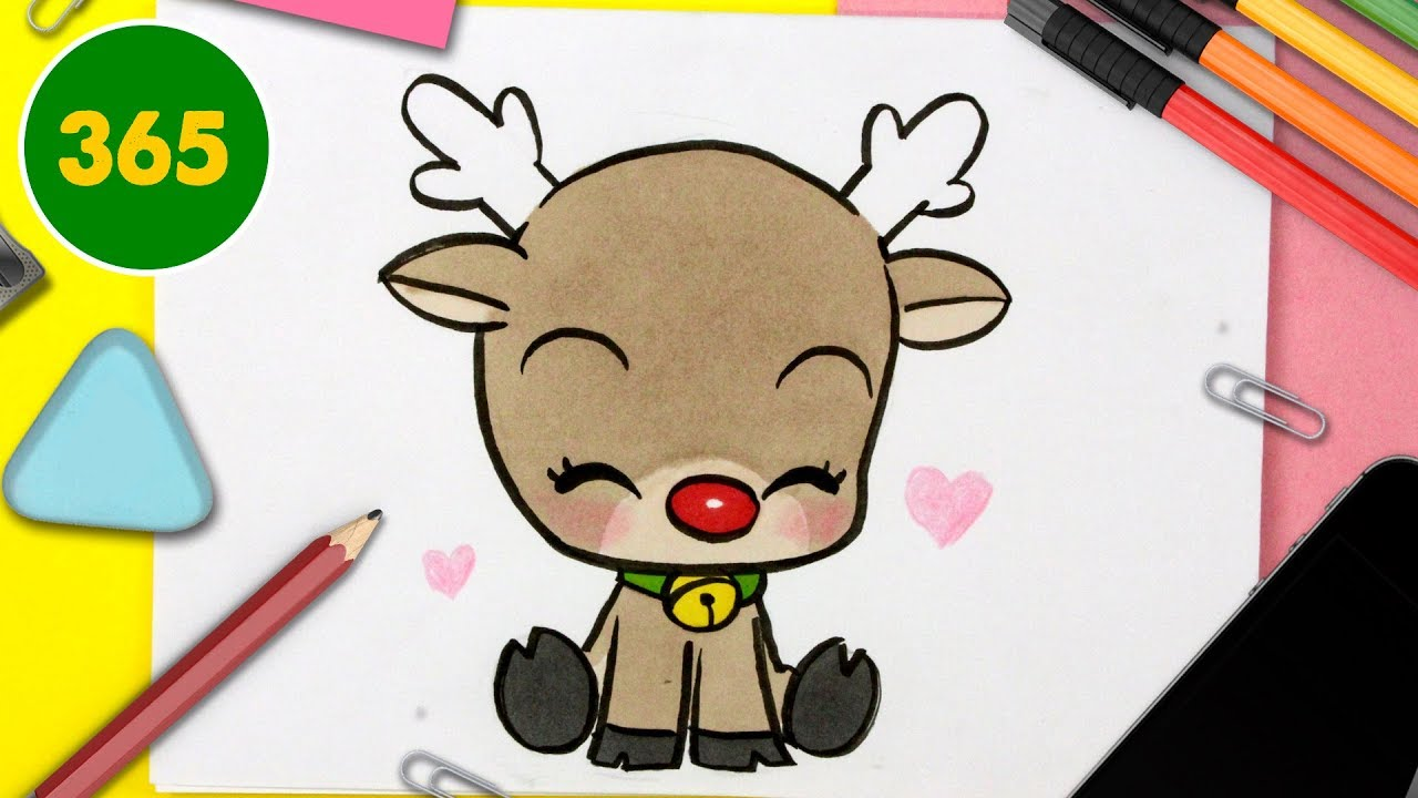 Comment Dessiner Un Renne De Nöel Kawaii Dessins Kawaii Facile Comment Dessiner Rudolf Kawaii