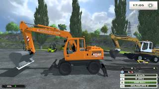 FARMING SIMULATOR 2013 NEW TEST MODS SCAVATORI E CARRELLI ELEVATORI