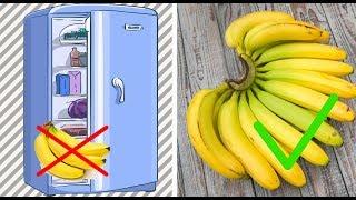 Продукты которые не стоит хранить в холодильнике