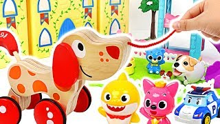 Baby shark has a Puppy friend! Let's play capsule toy vending machine with Pororo,Crong!#PinkyPopTOY