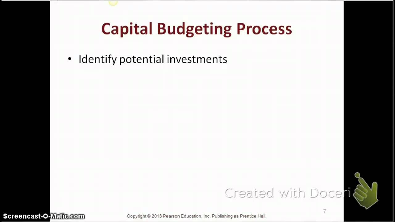 what is capital budgeting process