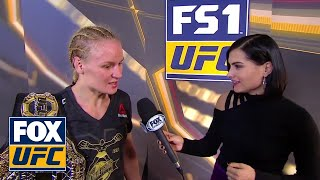 Valentina Shevchenko speaks after winning Flyweight belt | INTERVIEW | UFC 231