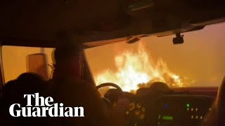 Firefighters escape Tamarack wildfire by driving through flames