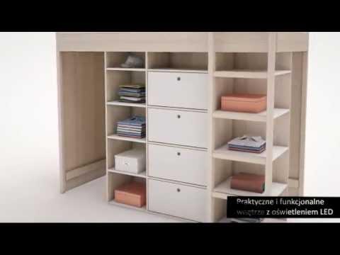 Kinderhochbett weiß  Hochbett Indiana - YouTube