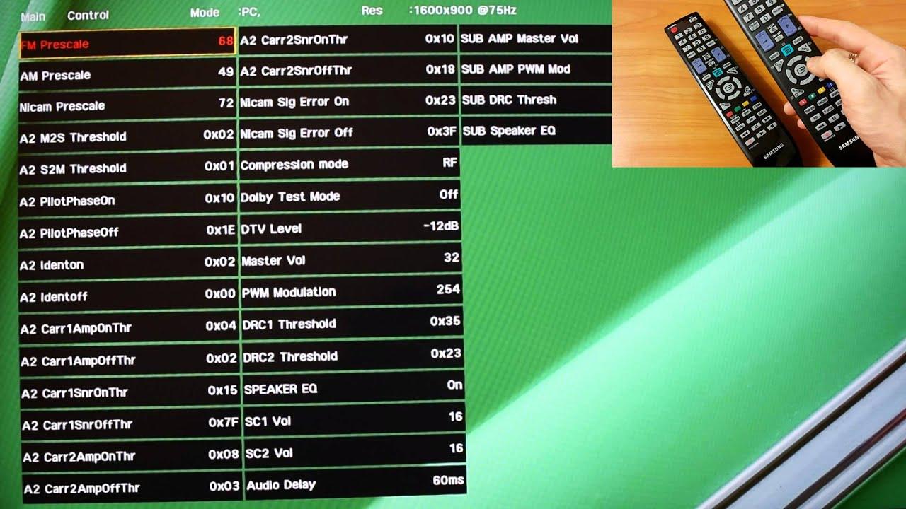 Samsung TV Service Menu How To Get Access Of Smart
