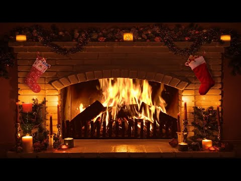 Fireplace HD: 1 Hour Long / High Definition Fire Log / With Sound / Merry Christmas