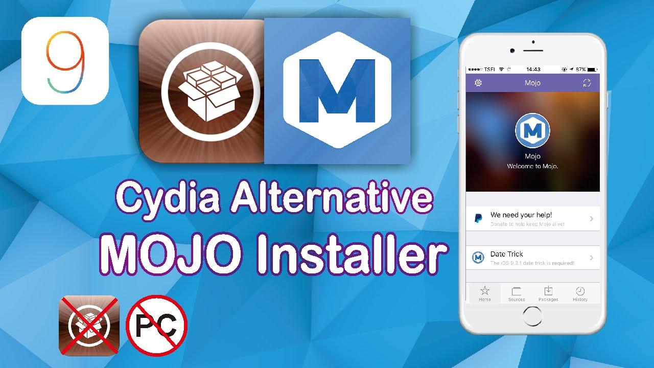NEW Mojo Installer Cydia Alternative for Iphone IOS 9 - 9 3 2 /9 3 3 No  Jailbreak/No PC