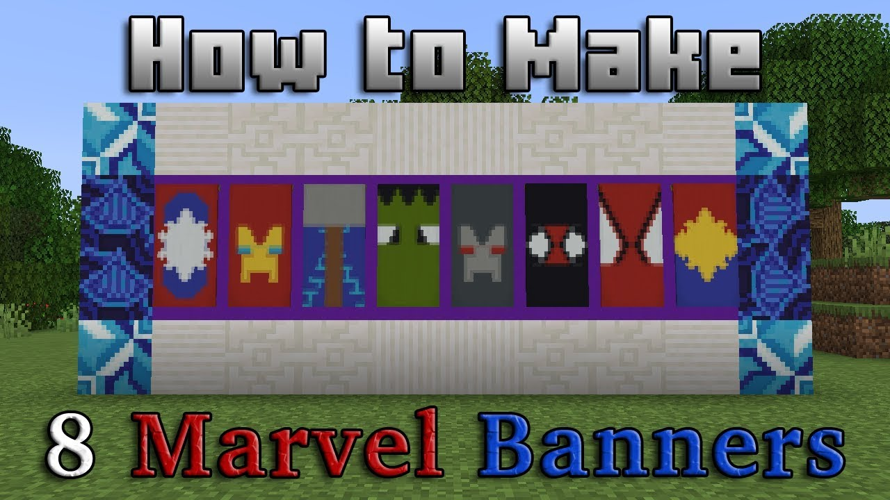 Minecraft - How to Make 8 Marvel Banners! (For Minecraft 1 14+) | Tutorial