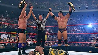 Batista and Ric Flair enter Tag Team Turmoil for the World Tag Team Championship: Armageddon 2003