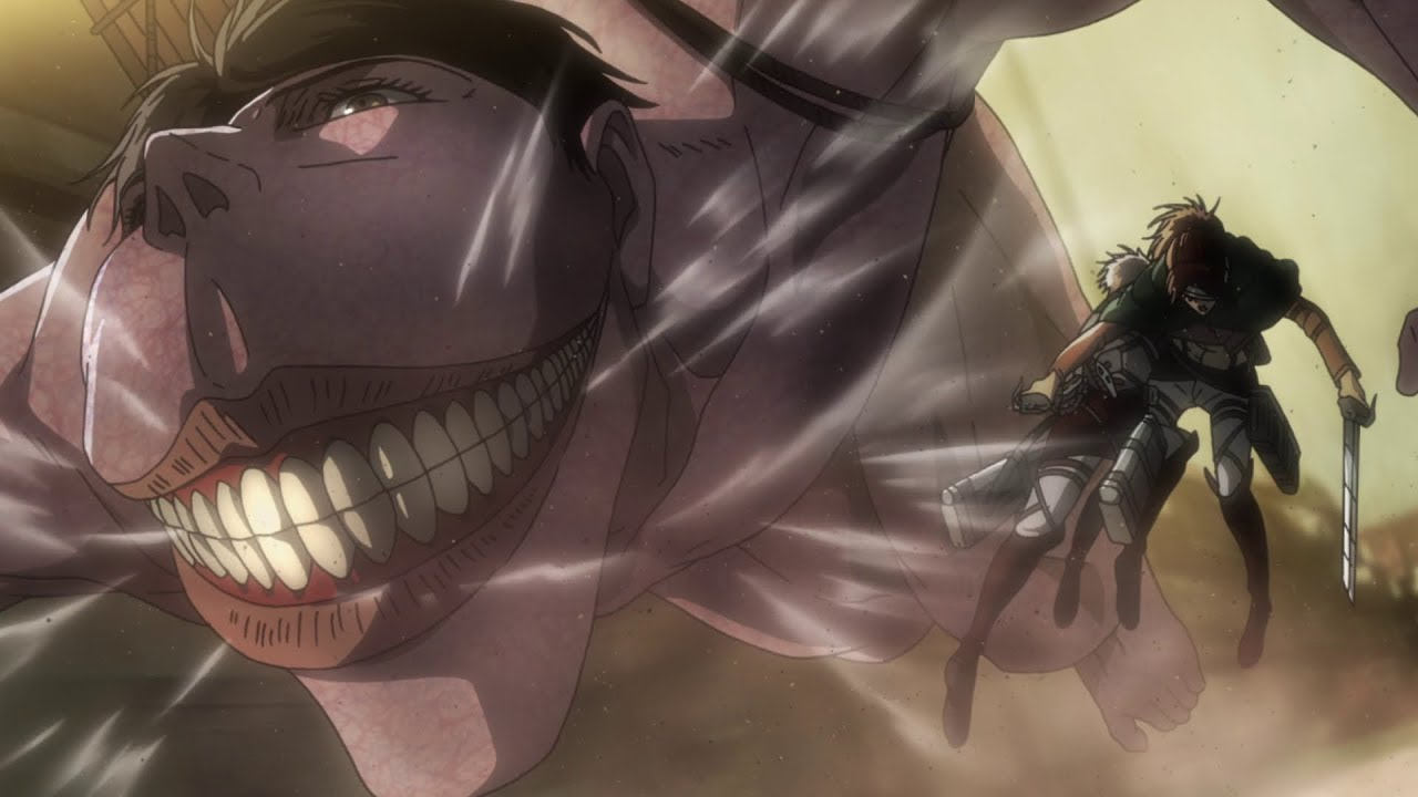 "Cart Titan Attacks Hange "" Anime Clip 