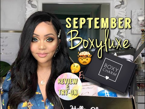 SEPTEMBER BOXYLUXE ( BOXYCHARM ) 2019 UNBOXING & TRY-ON || BOXYCHARMSNEAKPEEK thumbnail