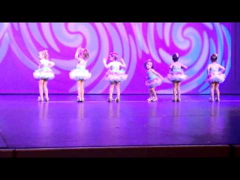 4 year old girls tap dancing to Lollipop