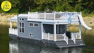 This Little Houseboat Is The Height Of Luxury, And When You See Inside You'll Want To Jump On Board