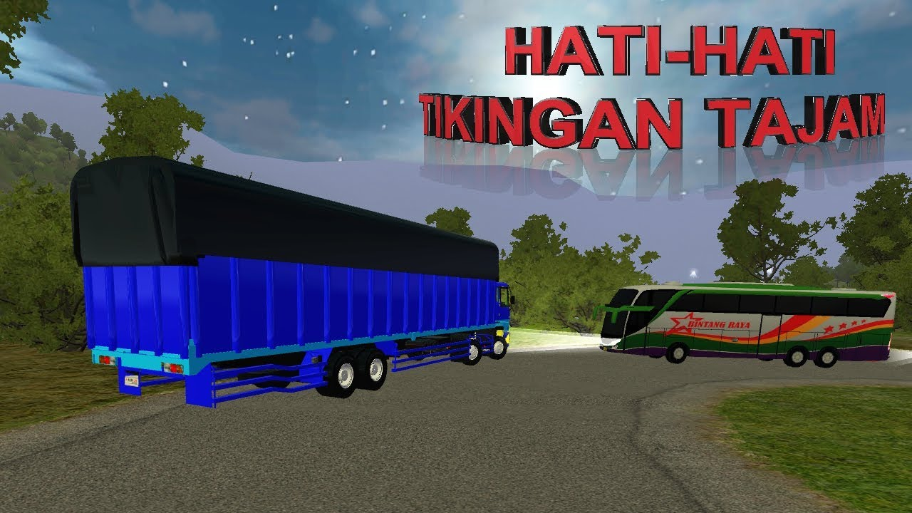 Fuso Long Chassis Lawan Arah | Game Bussid Mod Android