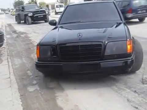 Mercedes Benz W124 AJ40 V8 Supercharged First Test - YouTube