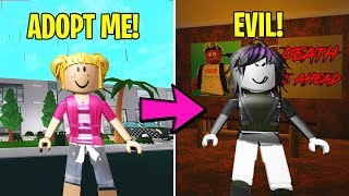 I Adopted A LITTLE GIRL... Turns Out She Was EVIL (Roblox Bloxburg)