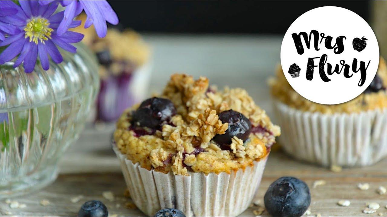 gesunde heidelbeer muffins ohne kristallzucker backen mit mrs flury youtube. Black Bedroom Furniture Sets. Home Design Ideas