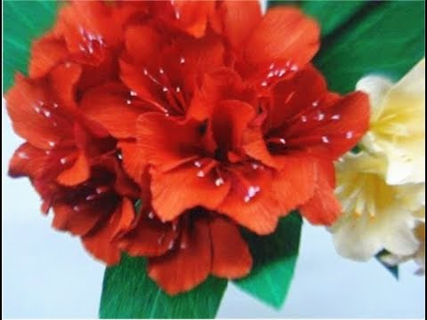 How to make Paper Flowers Rhododendron (Flower # 44)