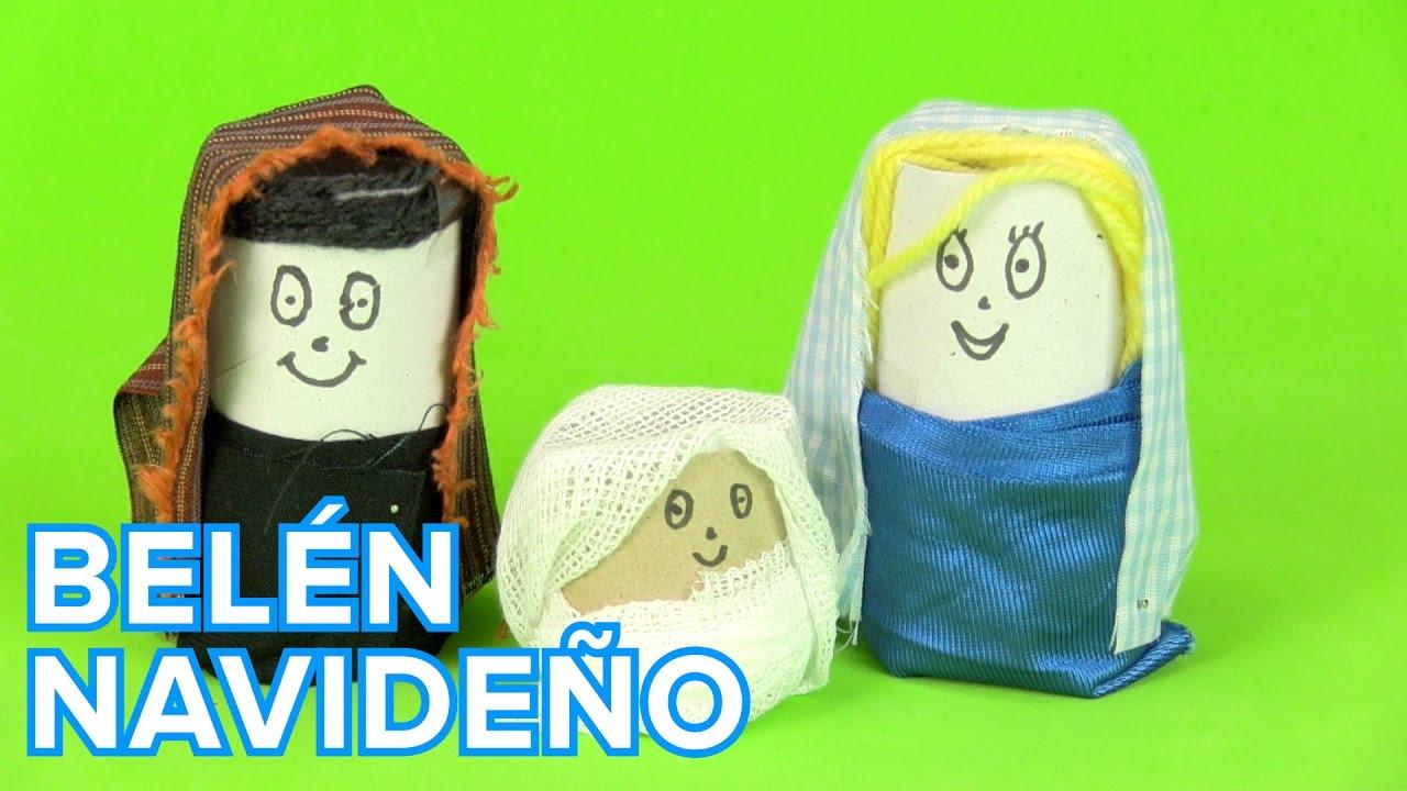 Bel n de navidad con rollos de papel manualidades de - Manualidades con rollos de papel higienico para navidad ...