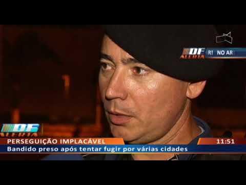 DF ALERTA - Bandido preso após tentar fugir por várias cidades