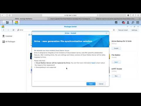 Upgrading from Synology Cloud Station Server to Synology