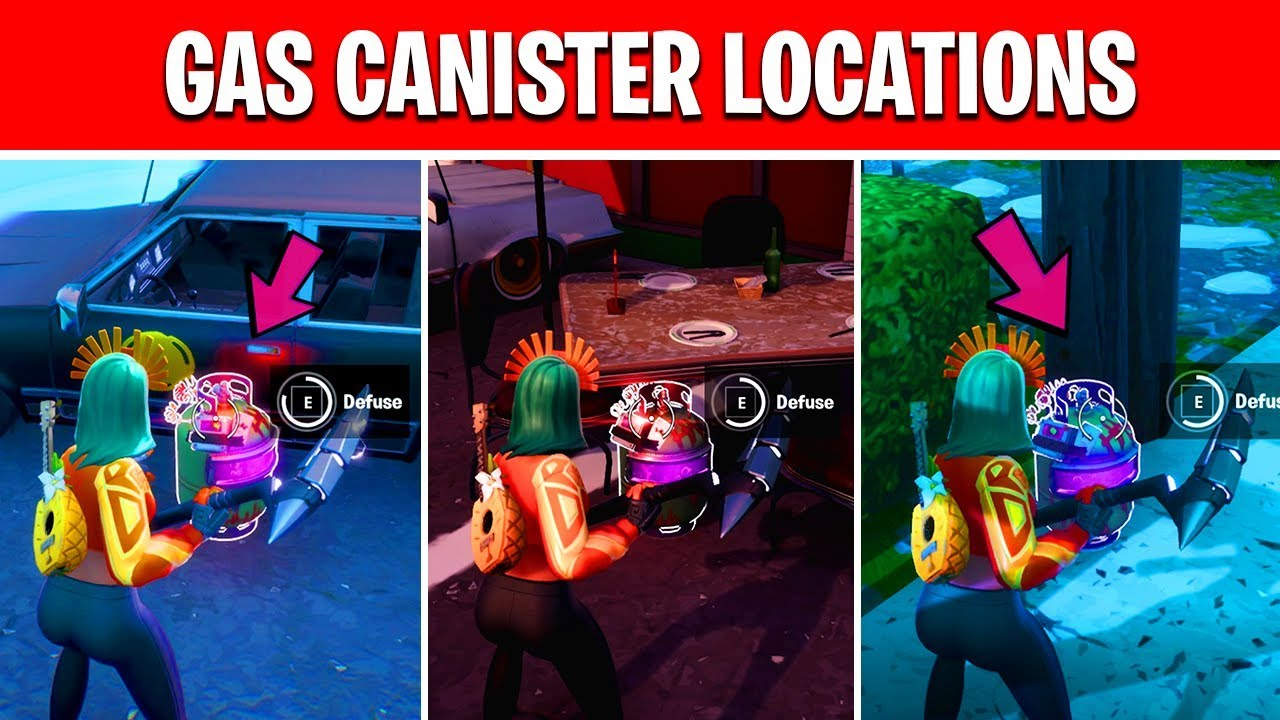 Defuse Joker Gas Canisters Found In Different Named Locations Fortnite Gotham City