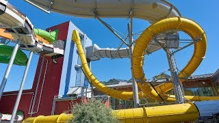 Yellow Looping Slide at AquaMagis Plettenberg