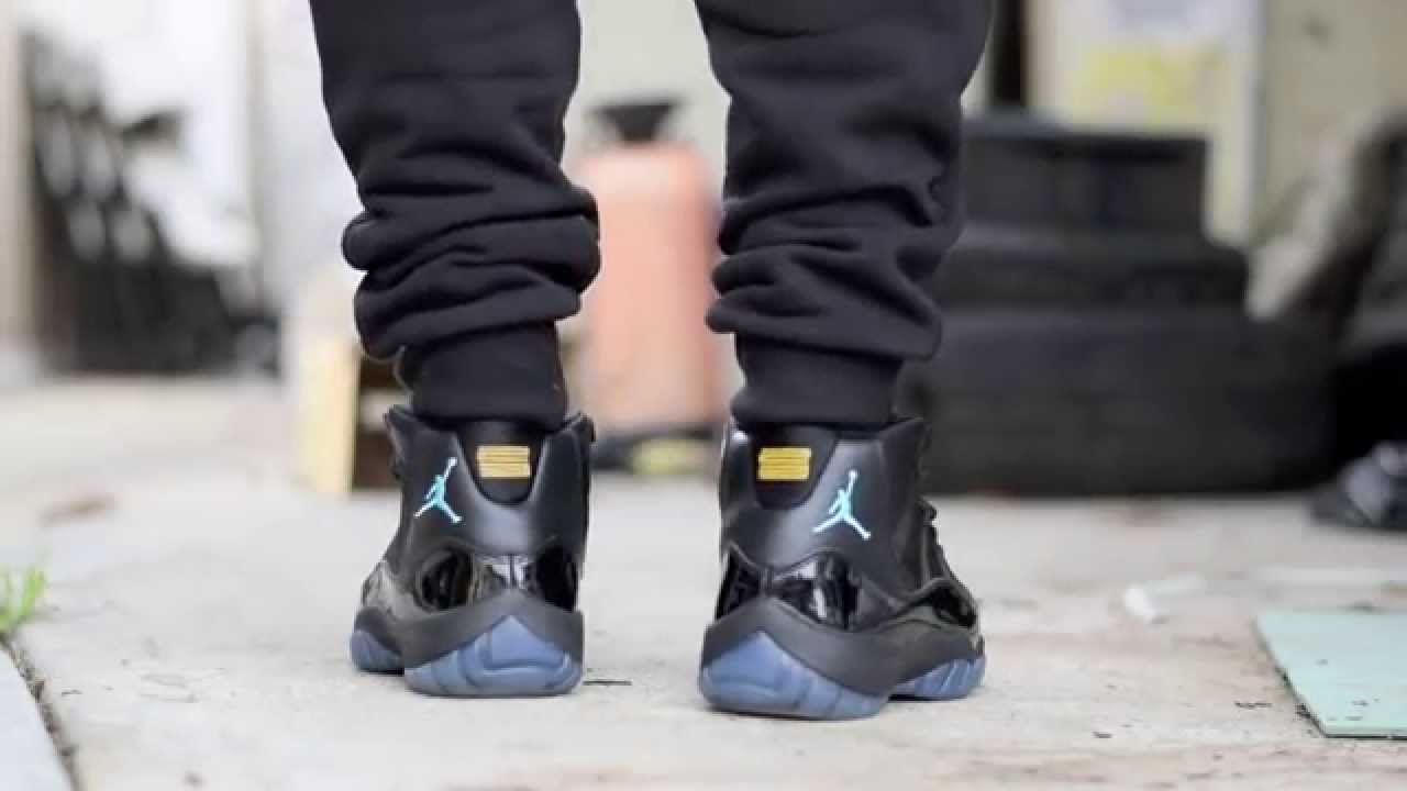 newest 2d045 96c58 Jordan 11 Gamma Blue On Feet