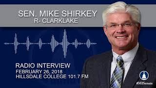 RFH: Sen. Shirkey Discusses Road Funding, Memorandums of Understanding, and More