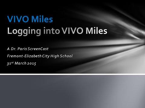Logging Into VIVO Miles