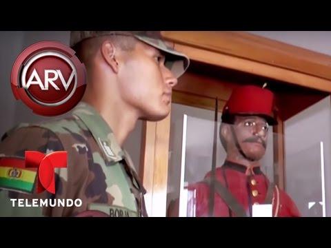 VIDEO: Temen a maniquí diabólico en una escuela militar de Bolivia