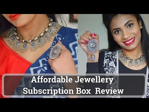 Online silver Jewellery Haul   Affordable Jewelry Subscription Box Review Hindi   Aanchal