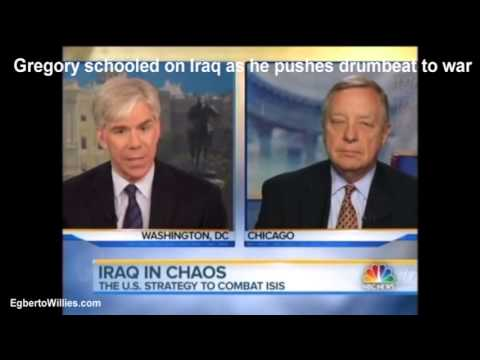 David Gregory schooled on Iraq as he pushes 'blame Obama' drumbeat to war on Meet the Press