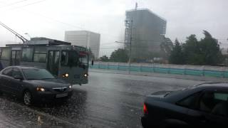Разбушевавшаяся стихия (Град) Новосибирск Full HD