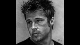 Brad Pitt Drawing by John Harding