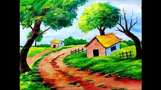 Acrylic Painting For Beginners | How To Paint Landscape Painting