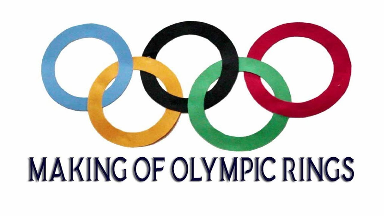 making of olympic rings school projects art and craft colored paper art paper decoration