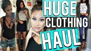 HUGE TRY ON Clothing HAUL! Express, VS, Marshalls, TJMAXX, Target