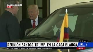 Así recibió  Donald Trump al presidente Santos en la Casa Blanca