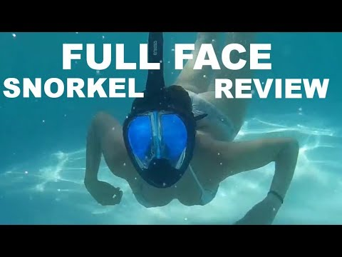 Full Face Snorkel Review from Enkeeo - Sailing Doodles