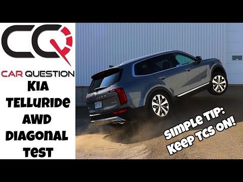 Kia Telluride AWD Diagonal test | It will climb: Sand mode and TCS ON!