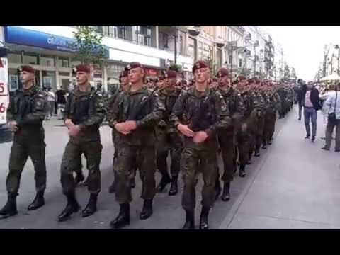 Dni NATO w Łodzi - Przemarsz wojska
